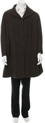 Massimo Alba Herringbone Wool Coat w/ Tags
