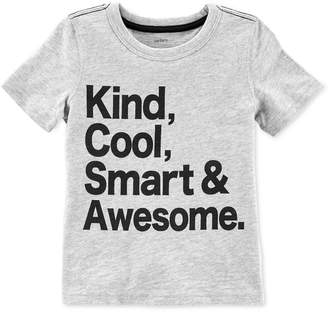 Carter's Toddler Boys' Kind, Cool, Smart & Awesome T-Shirt