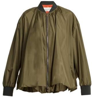 Valentino Oversized Zip Through Silk Jacket - Womens - Green