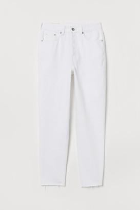 H&M Slim Mom Jeans - White
