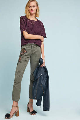 Anthropologie Embroidered Wanderer Utility Pants