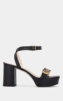 Gucci Women's Marmont Leather Ankle-Strap Sandals - Black