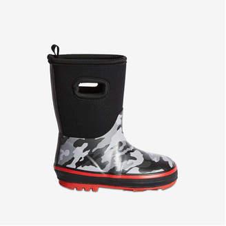 Joe Fresh Toddler Boys' Neoprene Rain Boots, Black Mix (Size 6)
