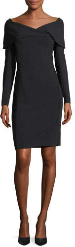 Ralph Lauren Collection Maxine Portrait-Collar Dress
