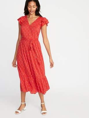 Old Navy Waist-Defined Wrap-Front Midi for Women