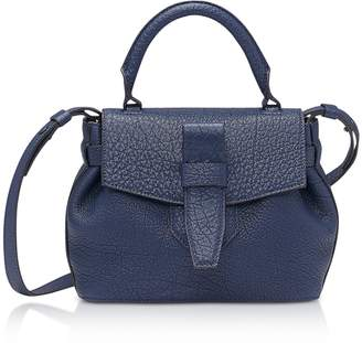 Lancel Charlie Nano Petrol Blue Full-Grain Satchel Bag
