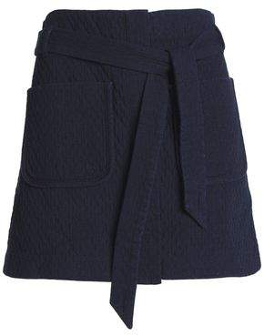 Rag & Bone Belted Cotton-Cloqué Mini Skirt