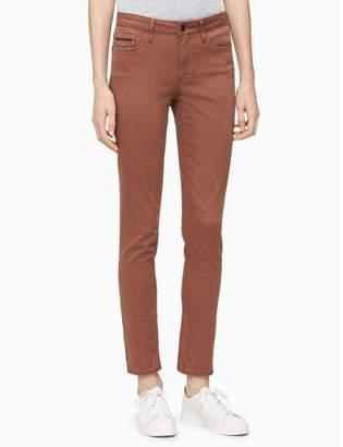 Calvin Klein skinny slub twill ankle jeans