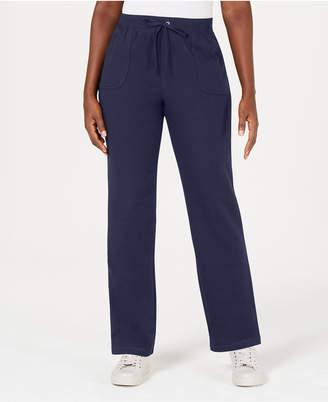 Karen Scott Petite French Terry Pants, Created for Macy's