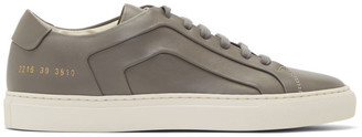 Common Projects Grey Achilles Multi-Ply Low-Top Sneakers