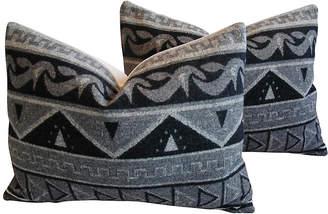 One Kings Lane Vintage Trading Camp Wool Blanket Pillows