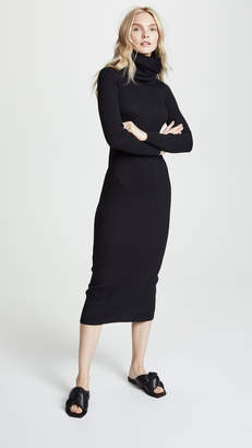 Courreges Maxi Dress with Detachable Collar