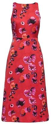 Banana Republic Floral V-Back Fit-and-Flare Dress