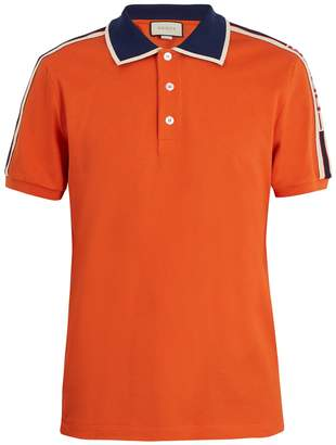 Gucci Web collar polo shirt