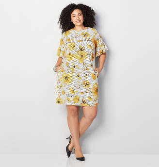Avenue Dotted Floral Sheath Dress