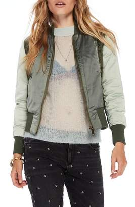 Scotch & Soda Crop Bomber Jacket