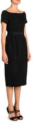 Fendi Crepe Off-the-Shoulder Midi Dress