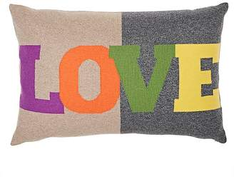 "Rani Arabella ""Love"" Cashmere-Blend Pillow"