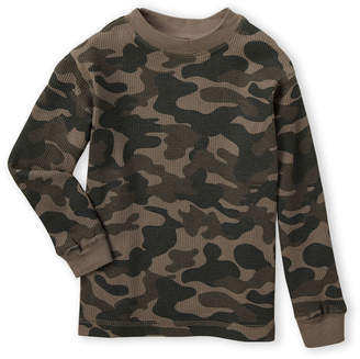 French Toast (Toddler Boys) Camo Print Long Sleeve Thermal Tee