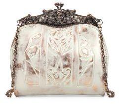 Patricia Nash White Copper Overdye Carmonita Leather Frame Bag $112 thestylecure.com