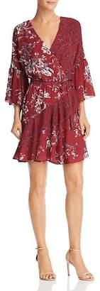 French Connection Ellette Crepe Floral-Print Faux-Wrap Dress