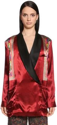 Etro Wrap Over Printed Satin Jacket