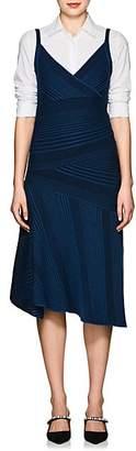 Cédric Charlier Women's Rib-Knit Wool A-Line Midi-Dress - Navy