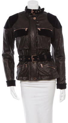 Mulberry Belted Leather Jacket $400 thestylecure.com