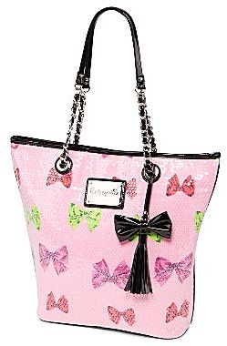 Betseyville by Betsey Johnson Sequin Bow Logo Tote