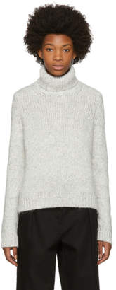 Moncler White Wool and Alpaca Turtleneck