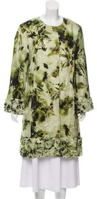 St. John Patterned Wool Coat