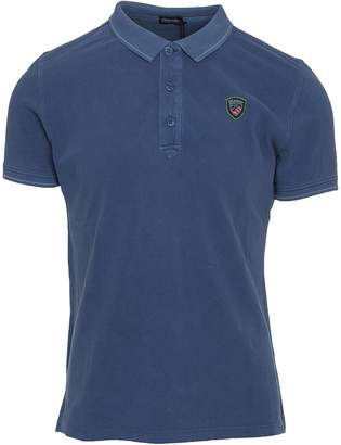 Blauer Cotton Polo
