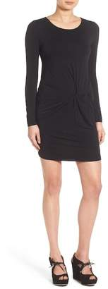 EVERLY Knotted Long Sleeve Body-Con Dress $48 thestylecure.com
