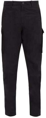 Stone Island Ghost Cotton Blend Cargo Trousers - Mens - Black