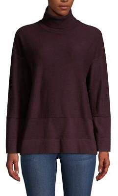 DKNY Long-Sleeve Wool-Blend Turtleneck Sweater