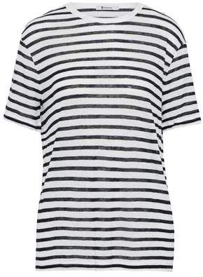 Alexander Wang Striped Slub Jersey T-Shirt
