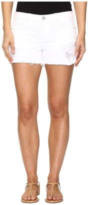 Blank NYC Distressed White Shorts in White Lines $88 thestylecure.com