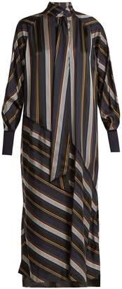 Roksanda Odelle striped satin dress