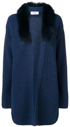 Blugirl fox fur-trimmed cardigan