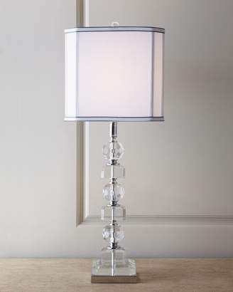 Horchow Stacked Crystals Table Lamp
