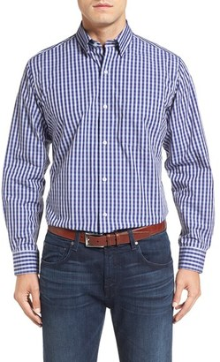 TailorByrd 'Enzo' Regular Fit Dobby Check Sport Shirt (Big & Tall) $125 thestylecure.com