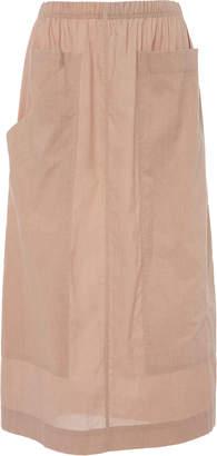 Sea Sienna a-line midi skirt