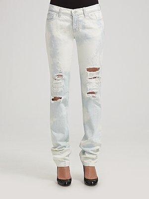 J Brand Acid Wash Pencil-Leg Jeans