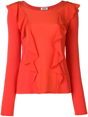 Liu Jo Synthpop frilled blouse