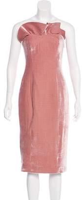 Cinq à Sept Strapless Velour Dress w/ Tags