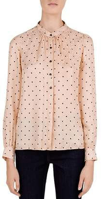 Gerard Darel Lauriane Dot-Print Blouse