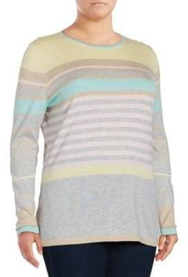 Basler Striped Silk & Cashmere-Blend Pullover