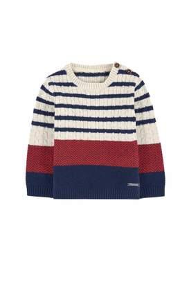 Mayoral Striped Block Sweater