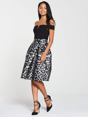 1b55c2322a AX Paris 2 In 1 Printed Midi Skirt Dress - Black