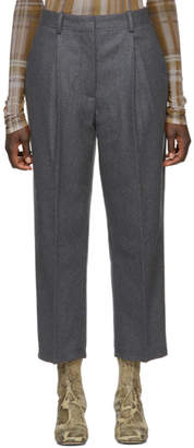 Acne Studios Grey Wool Ryder Trousers